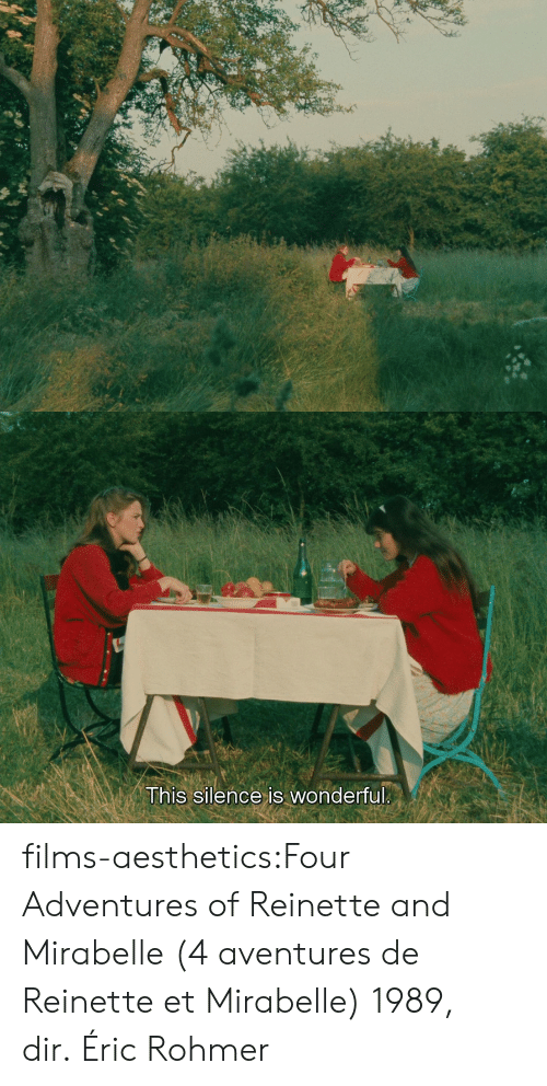 Silence Is: This silence is wonderful films-aesthetics:Four Adventures of Reinette and Mirabelle (4 aventures de Reinette et Mirabelle) 1989, dir. Éric Rohmer