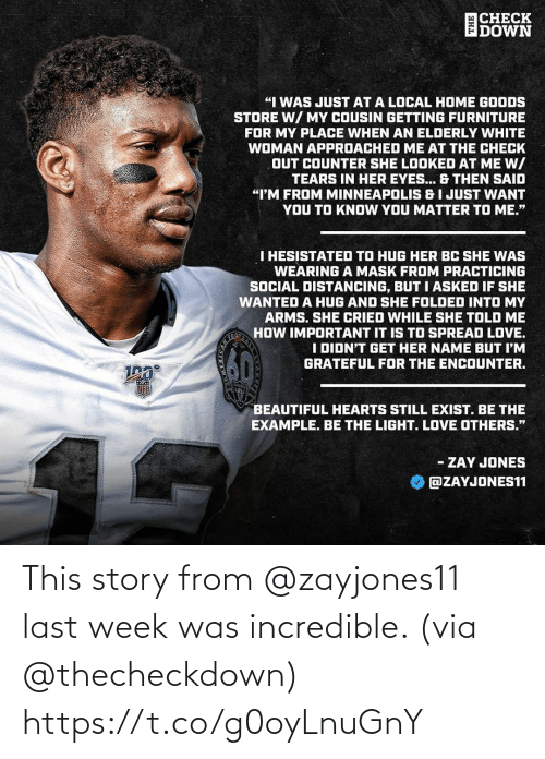 Https T: This story from @zayjones11 last week was incredible. (via @thecheckdown) https://t.co/g0oyLnuGnY