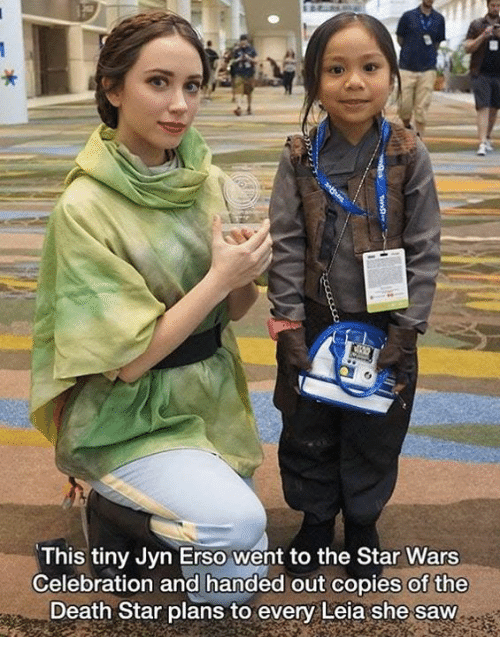 Death Star, Saw, and Star Wars: This tiny Jyn Erso went to the Star Wars  Celebration and handed out copies of the  Death Star plans to every Leia she saw