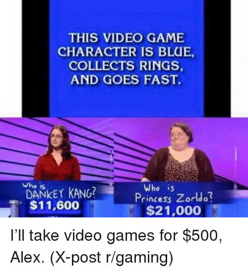 Who Is Dankey Kang: THIS VIDEO GAME  CHARACTER IS BLUE,  COLLECTS RINGS,  AND GOES FAST.  who is  DANKEY KANG?  Who is  Princess Zorldo  , $11,600  $21,000