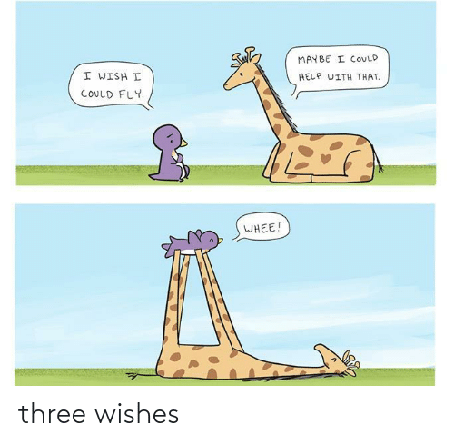 Grant: THREE WISHES  I WISH MY DOG  I SHALL GRANT YOU  COULD TALK.  THREE WISHES.  HEY BUDDY,  DONE.  YOU'VE GOT  TWO WISHES!  SNAP,  #12  HEY BUDDY  COMICS  Oft three wishes