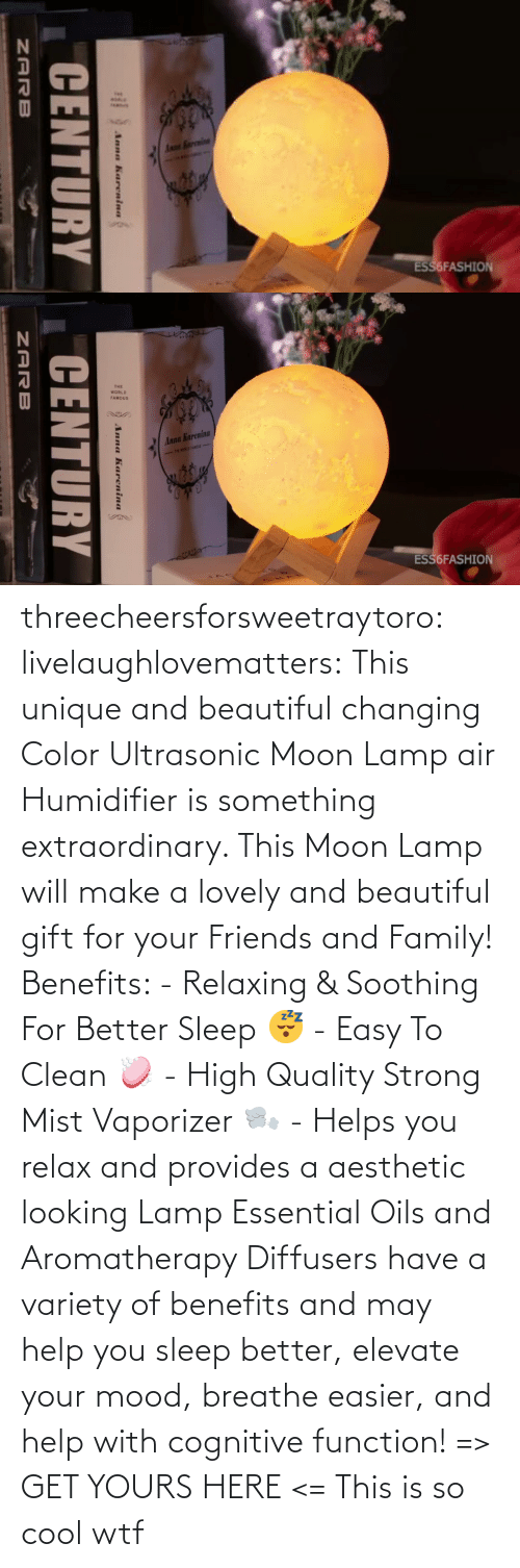 Benefits: threecheersforsweetraytoro: livelaughlovematters:   This unique and beautiful changing Color Ultrasonic Moon Lamp air Humidifier is something extraordinary. This Moon Lamp will make a lovely and beautiful gift for your Friends and Family! Benefits:  - Relaxing & Soothing For Better Sleep 😴 - Easy To Clean 🧼 - High Quality Strong Mist Vaporizer 🌬️ - Helps you relax and provides a aesthetic looking Lamp Essential Oils and Aromatherapy Diffusers have a variety of benefits and may help you sleep better, elevate your mood, breathe easier, and help with cognitive function! => GET YOURS HERE <=    This is so cool wtf