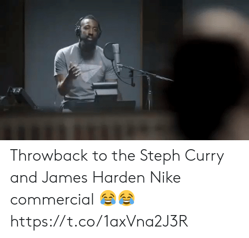 James Harden, Memes, and Nike: Throwback to the Steph Curry and James Harden Nike commercial 😂😂 https://t.co/1axVna2J3R