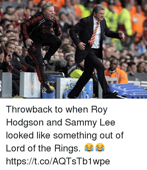 roy hodgson: Throwback to when Roy Hodgson and Sammy Lee looked like something out of Lord of the Rings. 😂😂 https://t.co/AQTsTb1wpe