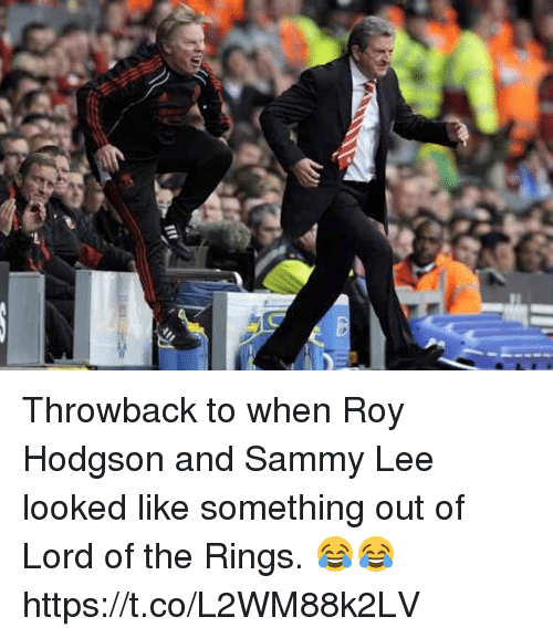 roy hodgson: Throwback to when Roy Hodgson and Sammy Lee looked like something out of Lord of the Rings. 😂😂 https://t.co/L2WM88k2LV