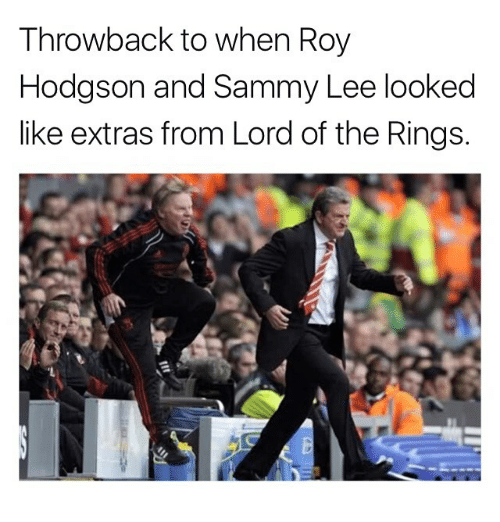 roy hodgson: Throwback to when Roy  Hodgson and Sammy Lee looked  like extras from Lord of the Rings.