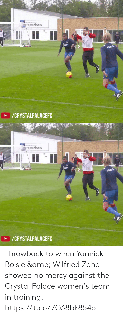 Women: Throwback to when Yannick Bolsie & Wilfried Zaha showed no mercy against the Crystal Palace women's team in training. https://t.co/7G38bk854o