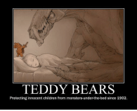 teddy bears protecting