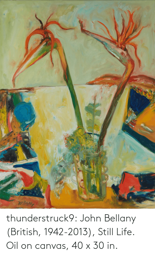 john: thunderstruck9:  John Bellany (British, 1942-2013), Still Life. Oil on canvas, 40 x 30 in.