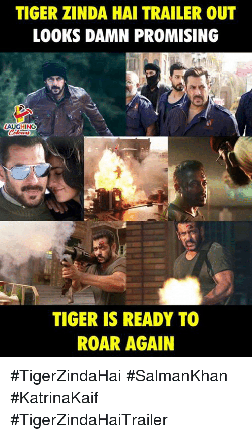 Tiger, Indianpeoplefacebook, and Roar: TIGER ZINDA HAI TRAILER OUT  LOOKS DAMN PROMISING  TIGER IS READY TO  ROAR AGAIN #TigerZindaHai #SalmanKhan #KatrinaKaif  #TigerZindaHaiTrailer