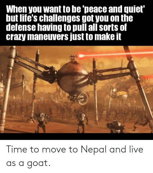 Move To: Time to move to Nepal and live as a goat.