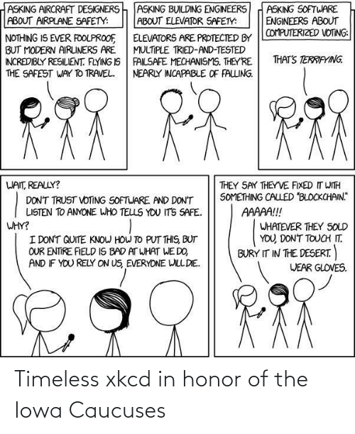 caucuses: Timeless xkcd in honor of the Iowa Caucuses