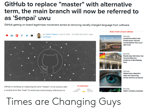 times: Times are Changing Guys