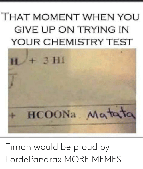 Would Be: Timon would be proud by LordePandrax MORE MEMES