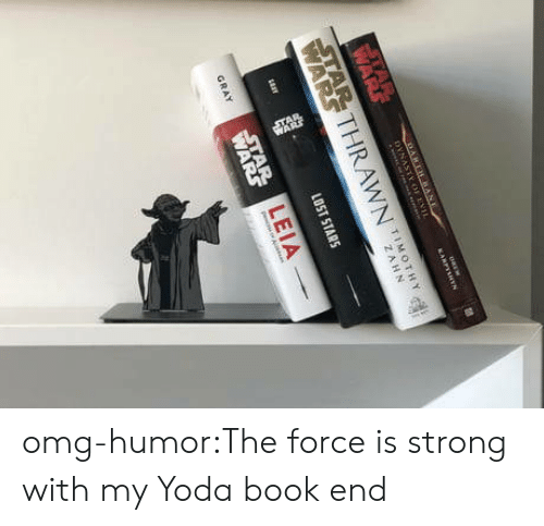 Omg, Tumblr, and Yoda: TIMOTHY  LEIA omg-humor:The force is strong with my Yoda book end