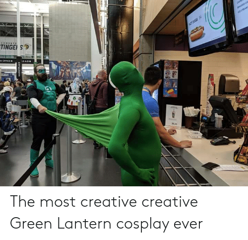 ole: TINGE S  ice CREAM  HOT DOGS S  x OFFICE  LS ADO  e  OLE The most creative creative Green Lantern cosplay ever