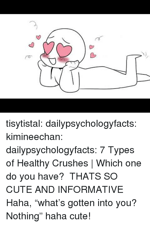 """Informative: tisytistal: dailypsychologyfacts:  kimineechan:  dailypsychologyfacts: 7 Types of Healthy Crushes 