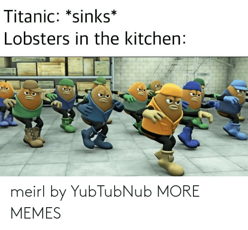 sinks: Titanic: *sinks*  Lobsters in the kitchen: meirl by YubTubNub MORE MEMES