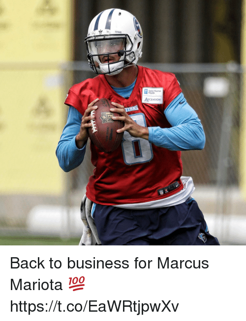 Inting: TITANS  Int Thomas  CENSION Back to business for Marcus Mariota 💯 https://t.co/EaWRtjpwXv