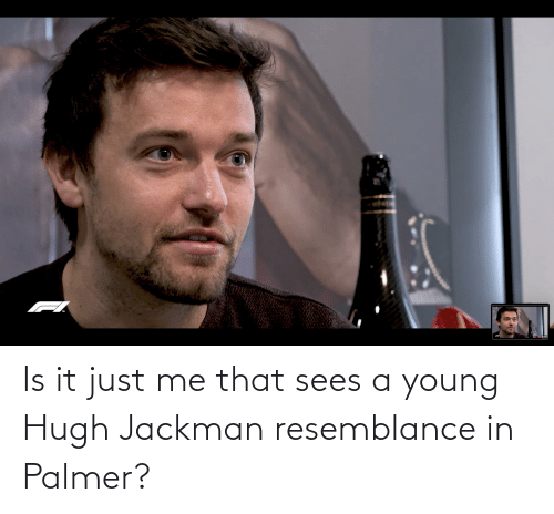 Hugh Jackman, Just, and Resemblance: TM Is it just me that sees a young Hugh Jackman resemblance in Palmer?