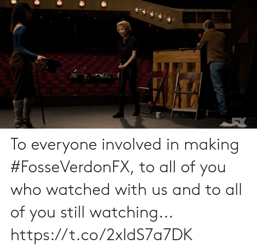 Memes, 🤖, and Who: To everyone involved in making #FosseVerdonFX,  to all of you who watched with us and to all of you still watching... https://t.co/2xIdS7a7DK