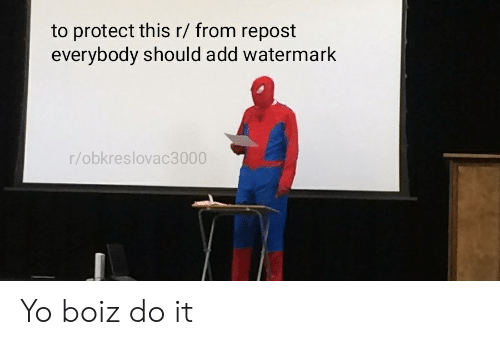 Reddit, Yo, and Add: to protect this r/ from repost  everybody should add watermark  r/obkreslovac3000 Yo boiz do it
