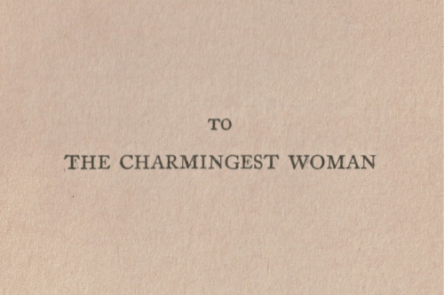 Woman and The: TO  THE CHARMINGEST WOMAN