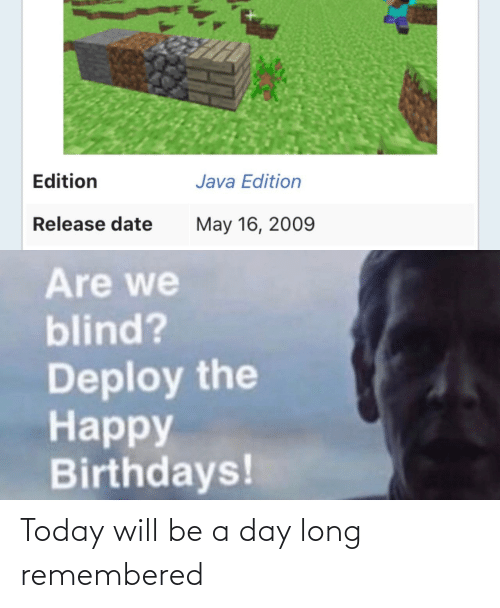 A Day: Today will be a day long remembered
