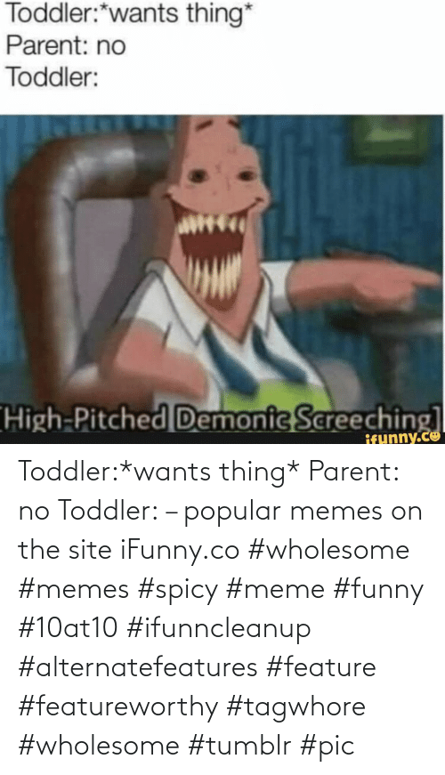 Feature: Toddler:*wants thing* Parent: no Toddler: – popular memes on the site iFunny.co #wholesome #memes #spicy #meme #funny #10at10 #ifunncleanup #alternatefeatures #feature #featureworthy #tagwhore #wholesome #tumblr #pic