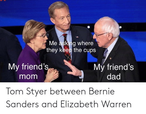 Bernie Sanders: Tom Styer between Bernie Sanders and Elizabeth Warren