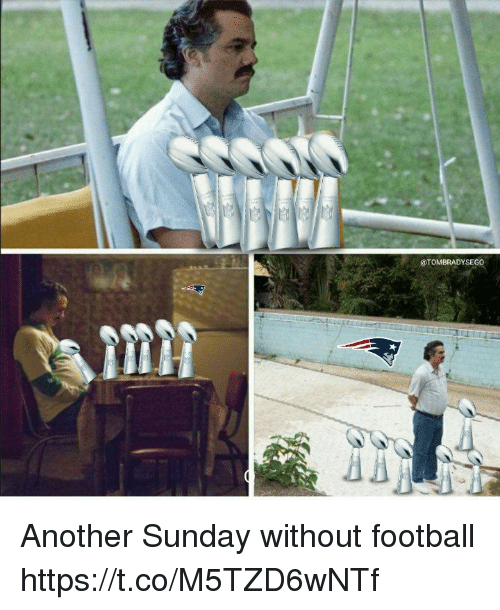 Football, Memes, and Sunday: @TOMBRADYSEGO Another Sunday without football https://t.co/M5TZD6wNTf