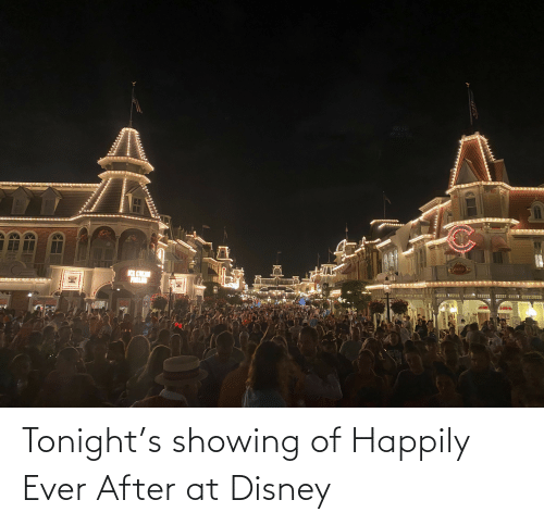 Happily Ever After: Tonight's showing of Happily Ever After at Disney