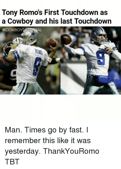 Touchdowners: Tony Romos First Touchdown as  a Cowboy and his last Touchdown  @COWBOY  AL Man. Times go by fast. I remember this like it was yesterday. ThankYouRomo TBT