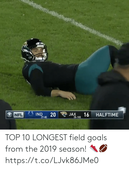 goals: TOP 10 LONGEST field goals from the 2019 season! 👟🏈 https://t.co/LJvk86JMe0