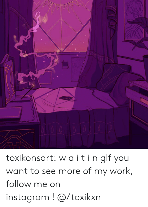 Instagram, Tumblr, and Work: toxikonsart:  w a i t i n gIf you want to see more of my work, follow me on instagram!@/toxikxn