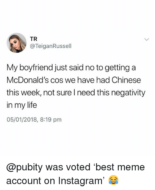 Funniest Meme Instagram Accounts 2018 : Best memes about negativity