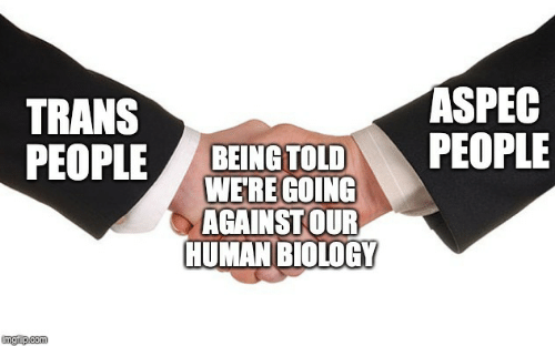Biology, Human, and Human Biology: TRANS  ASPEC  WERE GOING  AGAINST OUR  HUMAN BIOLOGY