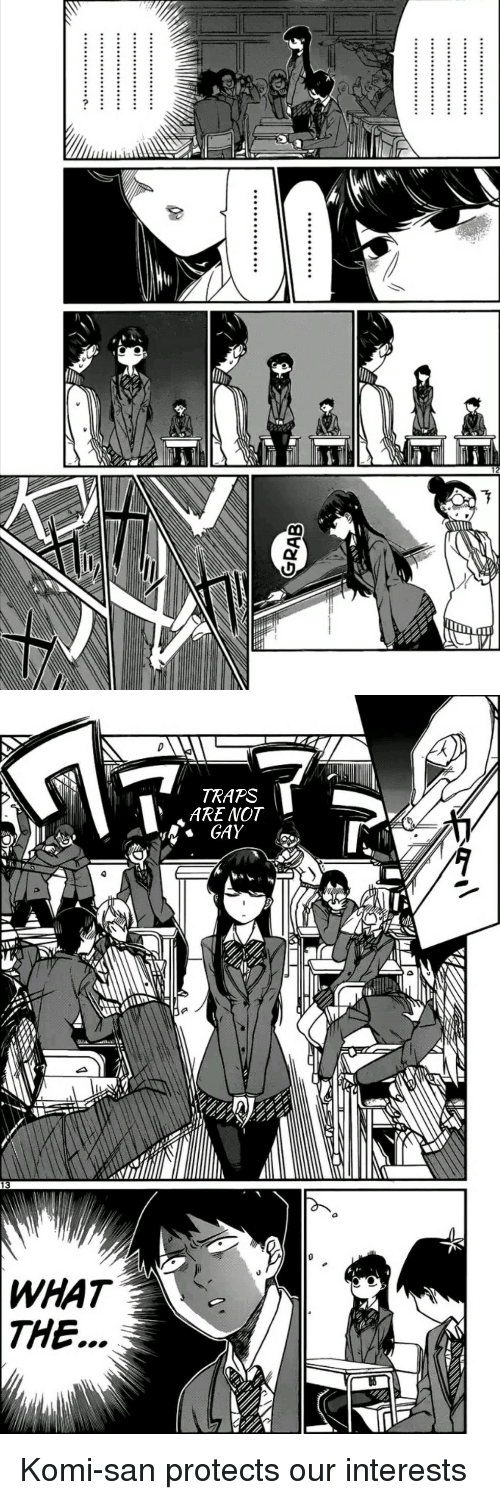 Anime, Gay, and San: TRAPS  ARE NOT  GAY  13  WHAT  THE. Komi-san protects our interests