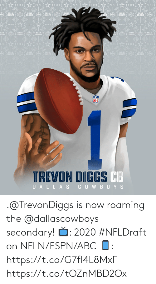 Dallascowboys: .@TrevonDiggs is now roaming the @dallascowboys secondary!  📺: 2020 #NFLDraft on NFLN/ESPN/ABC 📱: https://t.co/G7fI4L8MxF https://t.co/tOZnMBD2Ox