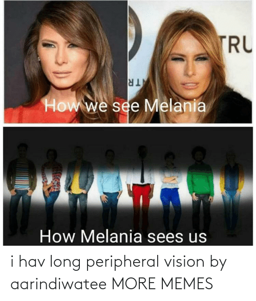 hav: TRU  TR  How we see Melania  How Melania sees us i hav long peripheral vision by aarindiwatee MORE MEMES