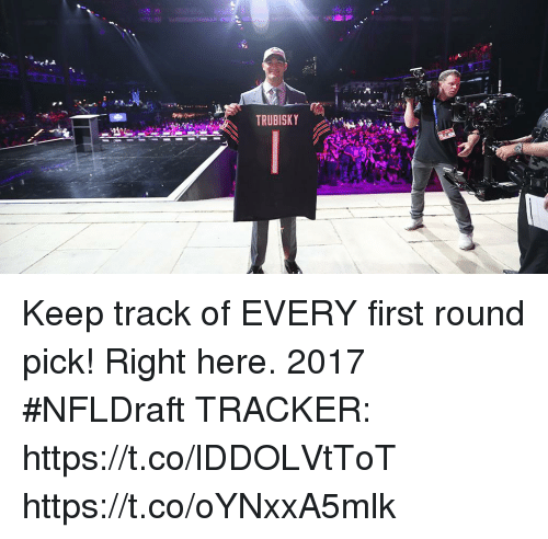 first-round-pick: TRUBISKY Keep track of EVERY first round pick! Right here.  2017 #NFLDraft TRACKER: https://t.co/lDDOLVtToT https://t.co/oYNxxA5mlk