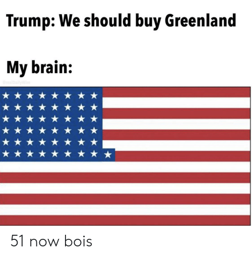 greenland: Trump: We should buy Greenland  My brain:  realDallyWire 51 now bois