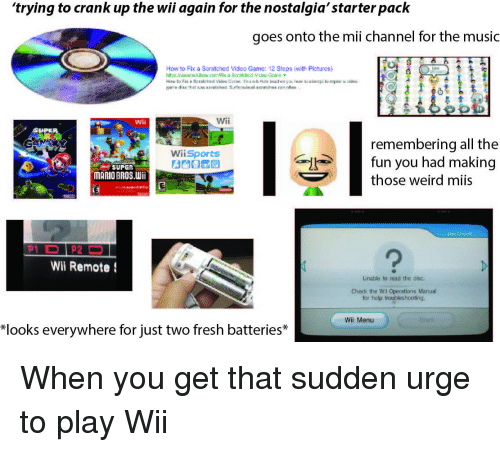 wii operations manual troubleshooting unable read disk