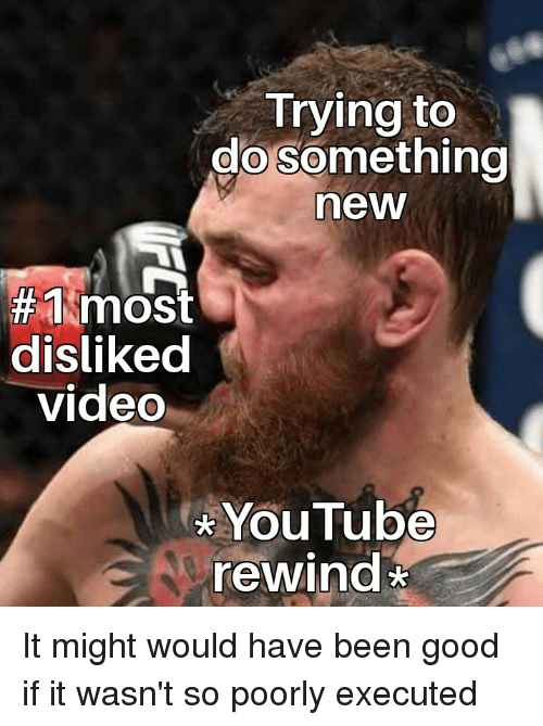 youtube.com, Good, and Video: Trying to  do something  now  disliked  video  YouTube  rewind