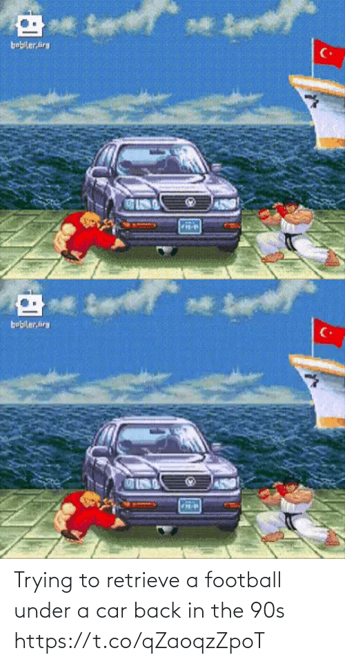 Under: Trying to retrieve a football under a car back in the 90s https://t.co/qZaoqzZpoT