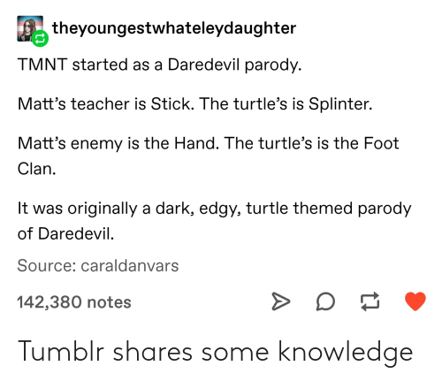Knowledge: Tumblr shares some knowledge
