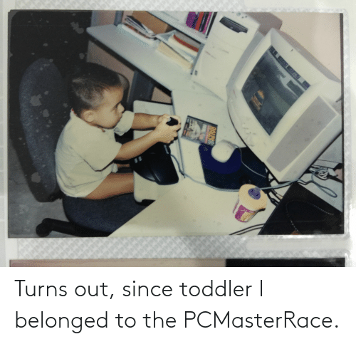 toddler: Turns out, since toddler I belonged to the PCMasterRace.