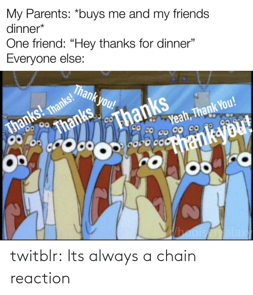 chain: twitblr:  Its always a chain reaction