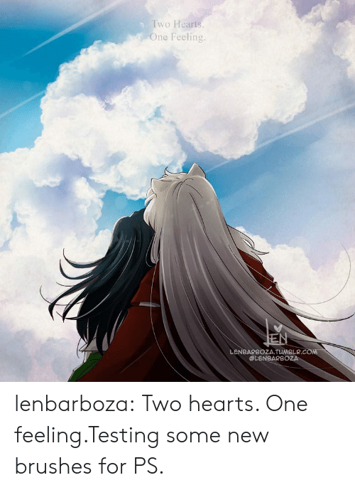 Target, Tumblr, and Blog: Two Hearts.  One Feeling.  EN  LENBARBOZA.TUMBLR.COM  @LENBARBOZA lenbarboza:  Two hearts. One feeling.Testing some new brushes for PS.