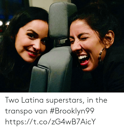 latina: Two Latina superstars, in the transpo van #Brooklyn99 https://t.co/zG4wB7AicY